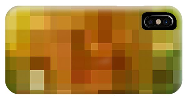 Bricks iPhone Case - Abstract Geometric Background by Florian Augustin
