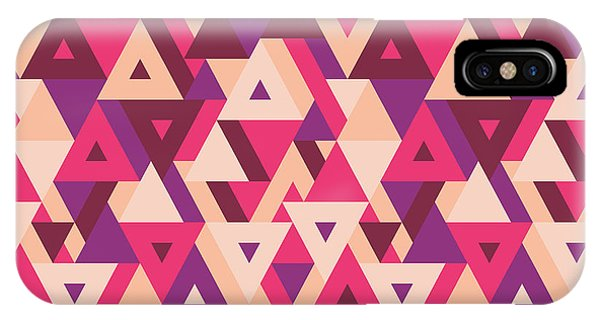 Happy iPhone Case - Abstract Geometric Background - by Sergey Korkin