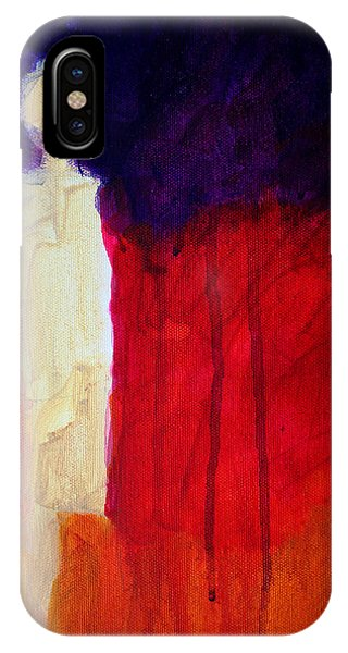 Figurative iPhone Case - Abstract Ghost Figure No. 1 by Nancy Merkle