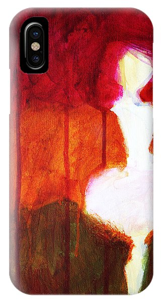 Illusion iPhone Case - Abstract Ghost Figure No. 2 by Nancy Merkle