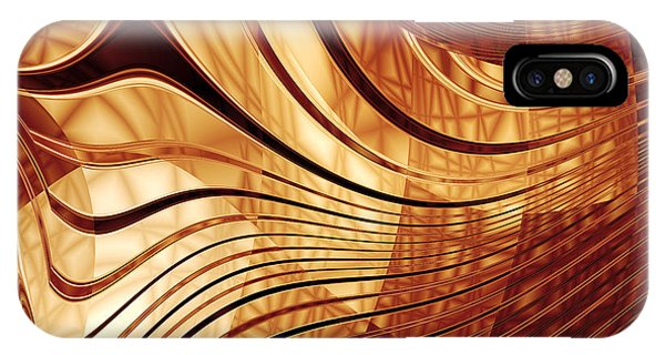 Abstract Gold 2 IPhone Case