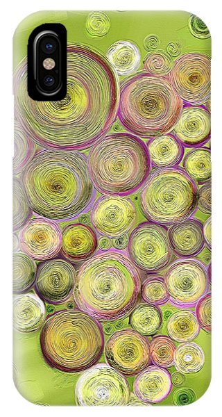 Green Grape iPhone Case - Abstract Grapes by Veronica Minozzi