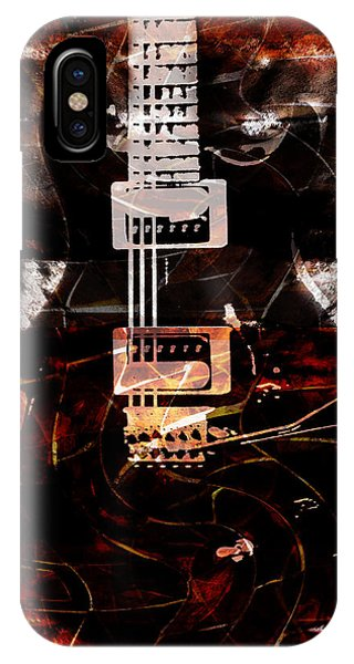 Abstract Guitar Into Metal IPhone Case