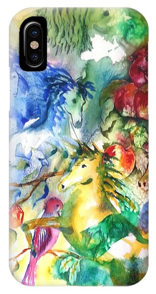 Abstract Horses IPhone Case