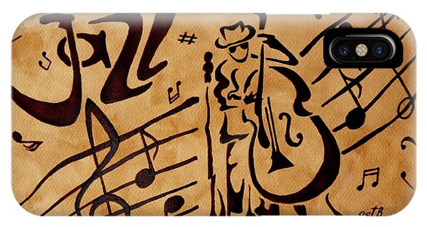 Abstract Jazz Music Coffee Painting IPhone Case