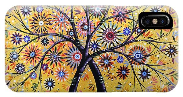 Abstract Modern Flowers Garden Art ... Flowering Tree IPhone Case