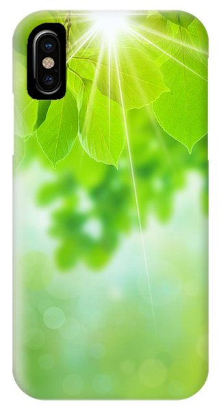 Leave iPhone Case - Abstract Natural by Atiketta Sangasaeng