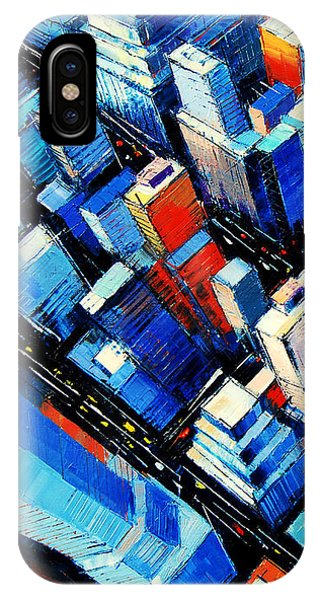 Avenue iPhone Case - Abstract New York Sky View by Mona Edulesco
