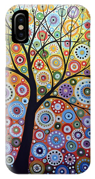 Abstract Original Tree Art Painting ... Sun Arising IPhone Case