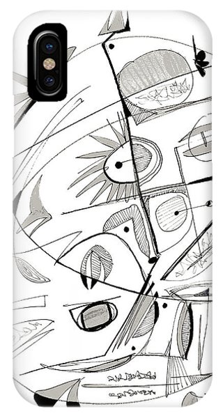 Abstract Pen Drawing Sixty-seven IPhone Case