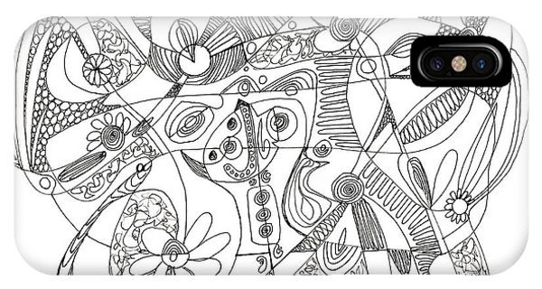 Abstract Pen Drawing Thirty-eight IPhone Case