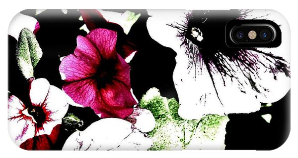Abstract Petunias IPhone Case