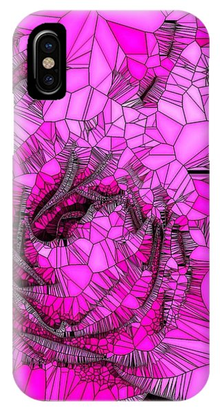 Abstract Pink Rose Mosaic IPhone Case