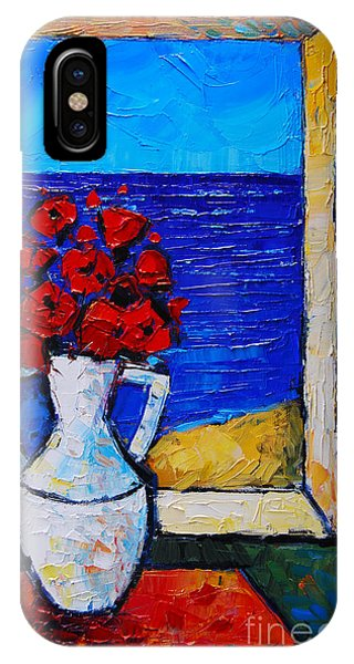 Abstract Poppies By The Sea IPhone Case