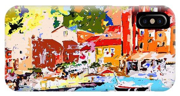 Abstract Portofino Italy Decorative Art IPhone Case