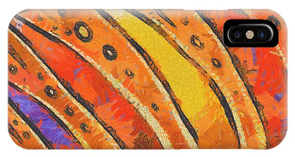 Abstract Rainbow Tiger Stripes IPhone Case
