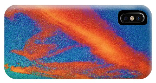 Abstract Red Blue And Green Sky IPhone Case