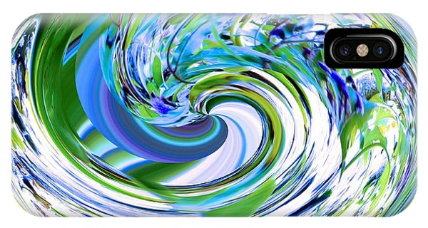 Abstract Reflections Digital Art #3 IPhone Case