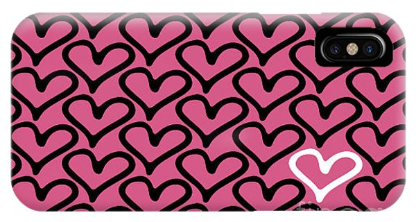 Happy iPhone Case - Abstract Seamless Heart Pattern by Ann Volosevich