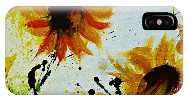 Abstract Sunflowers 2 IPhone Case