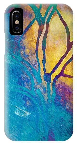 Fire And Ice Abstract Tree Art  IPhone Case