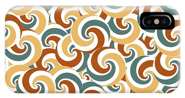 Event iPhone Case - Abstract Vector Wave Background by Lisa Kolbasa