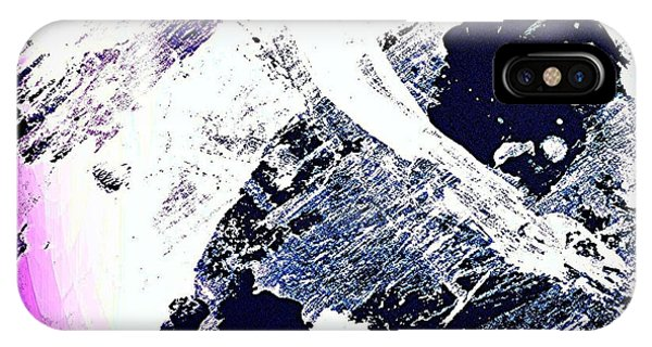 Watercolor iPhone Case - Purple And White 2 by Jason Michael Roust