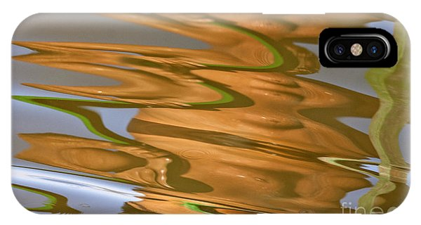 Abstract Wave Reflection IPhone Case