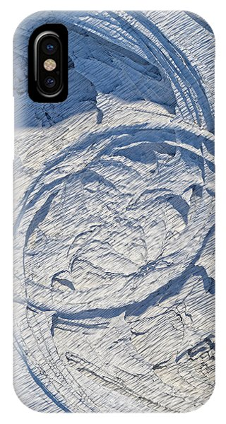 Abstract With Blue Shadows IPhone Case
