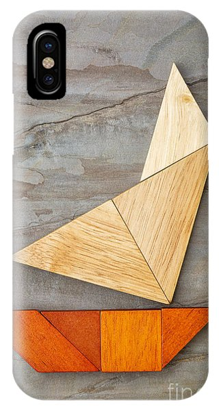 Abstract Yacht From Tangram Puzzle IPhone Case
