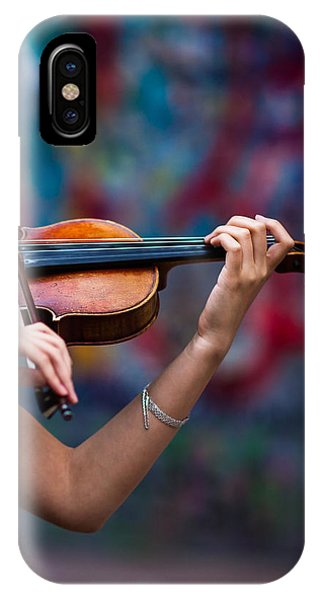Violin iPhone X Case - Abstracts From Vivaldi - Featured 3 by Alexander Senin
