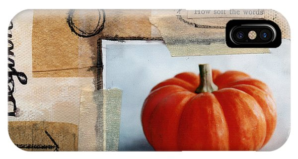 Pumpkin iPhone Case - Abundance by Linda Woods
