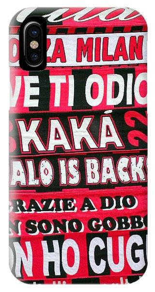 Ac Milan Fans Scarves  IPhone Case