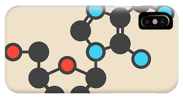 Atomic iPhone Case - Acadesine Molecule by Molekuul
