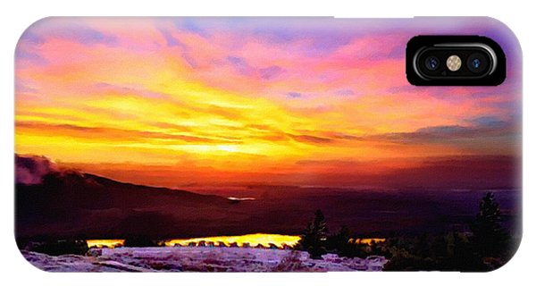 Acadia National Park Cadillac Mountain Sunrise Forsale IPhone Case