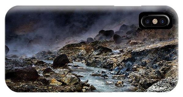 River Flow iPhone Case - Acid River by Par Soderman