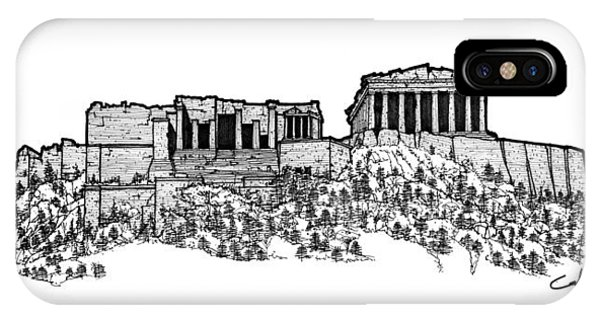 Acropolis Of Athens IPhone Case