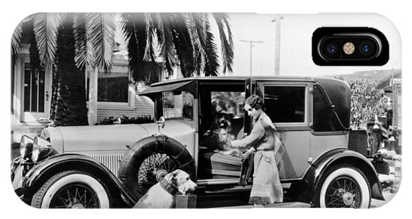 Sleeper iPhone Case - Actress And Dogs Go On Trip by Underwood Archives
