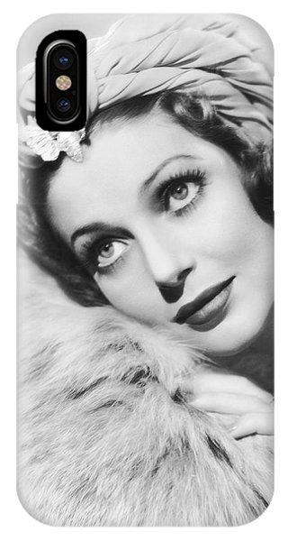 Celebrity iPhone Case - Actress Loretta Young by Underwood Archives