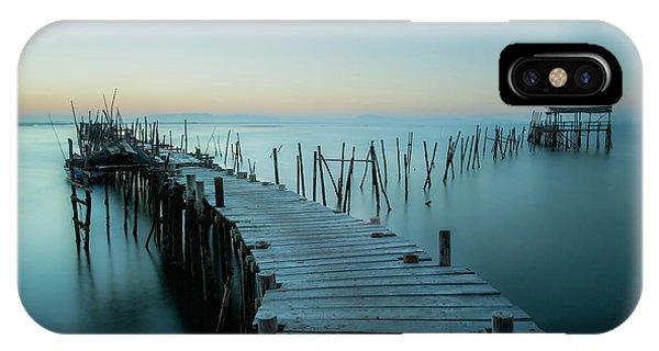 Pier iPhone Case - Acuatic Sticks by Eugenio Pastor Benjumeda