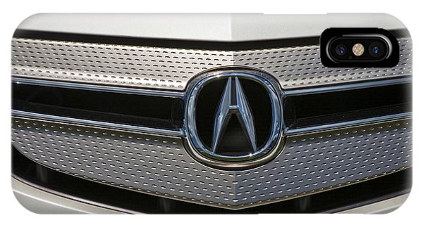 Acura Grill Emblem Close Up IPhone Case