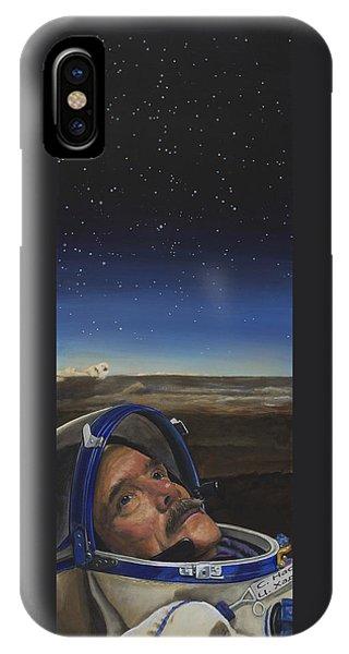 Nasa iPhone Case - Ad Astra - Col. Chris Hadfield by Simon Kregar