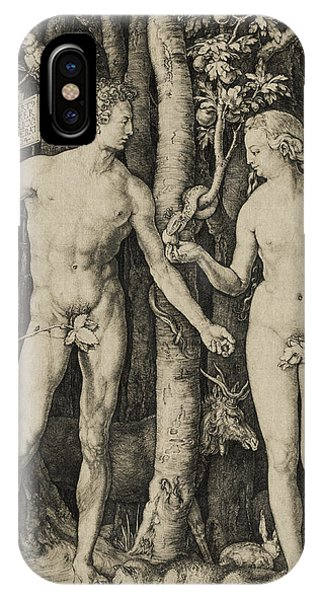 Worship iPhone Case - Adam And Eve by Aged Pixel