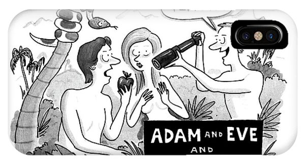 Adam And Eve And Scott IPhone Case