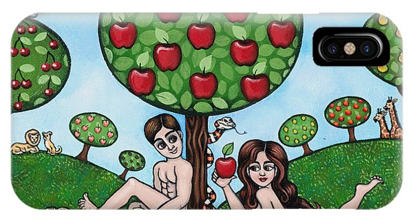 Adam And Eve The Naked Truth IPhone Case