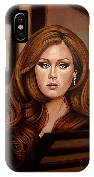 Rhythm And Blues iPhone X / XS Case - Adele by Paul Meijering