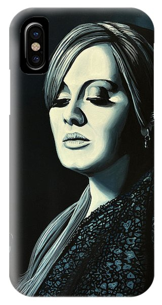 Music iPhone Case - Adele 2 by Paul Meijering