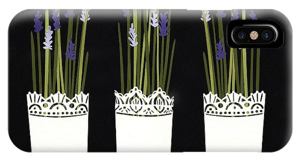 Violet iPhone Case - Lavender Pots by Isobel Barber