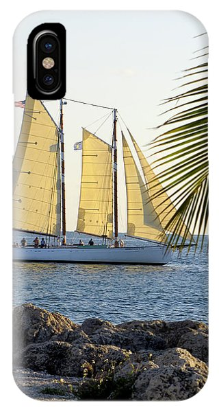 Sailing On The Adirondack In Key West IPhone Case