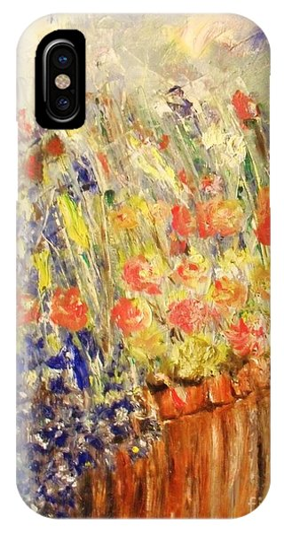 IPhone Case featuring the painting Adirondack Floral by Laurie Lundquist